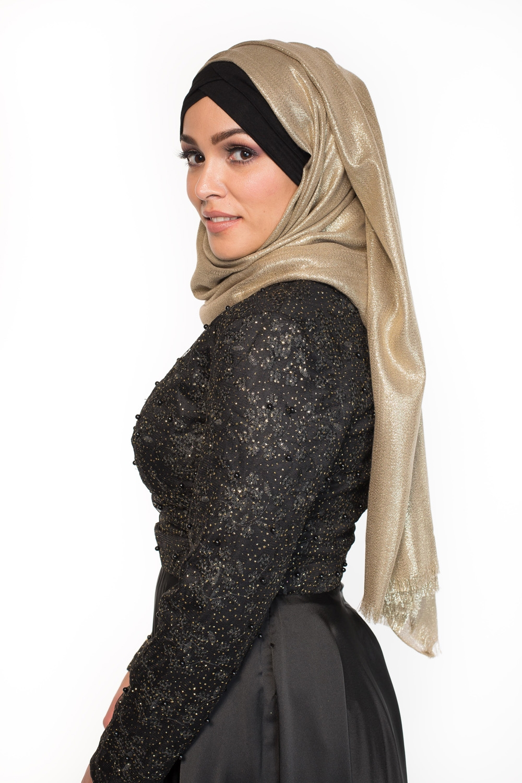 Maxi hijab fête doré
