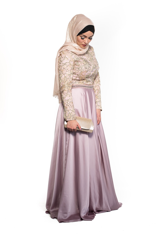 Maxi hijab fête rose/doré