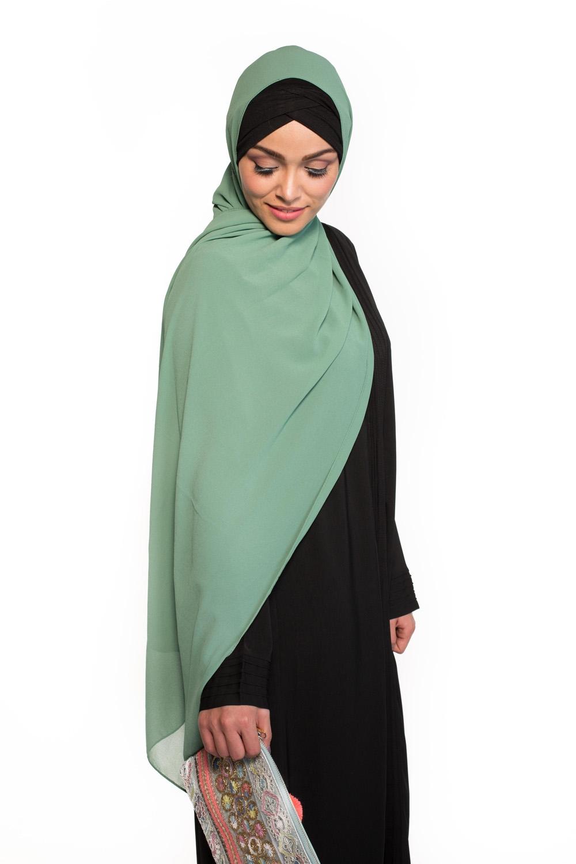 Hijab Mousseline vert pastel