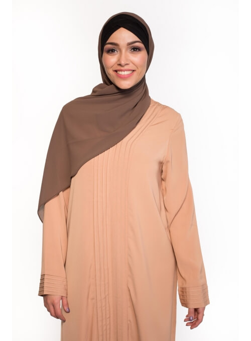 Hijab Mousseline taupe femmes musulmanes