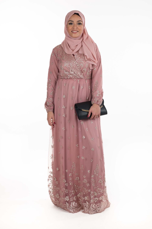 Robe Pailllette rose