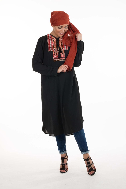 Tunique Ethnichic noir