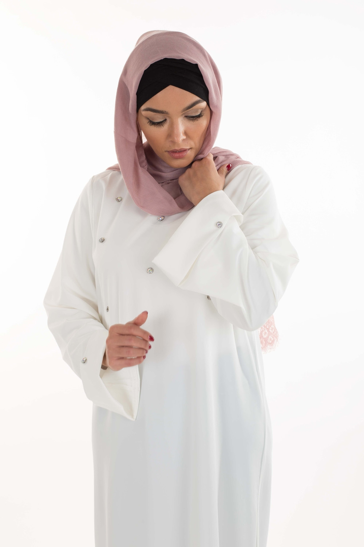 Hijab Coton dentelle mauve