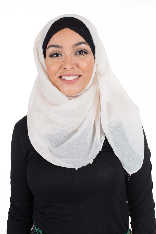 Hijab Pearl's beige