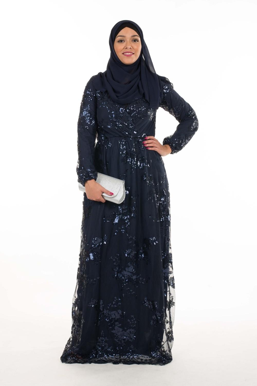 Robe longue sequin de fete femme musulmane