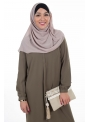 Hijab Mousseline taupe clair