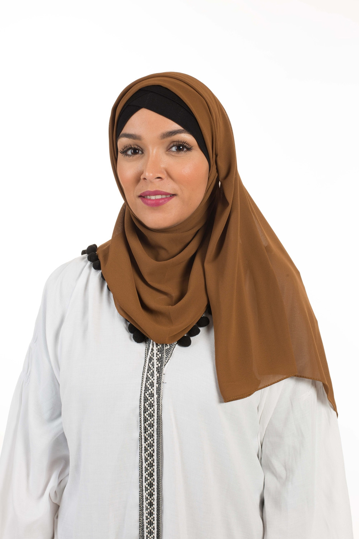 Hijab Mousseline camel