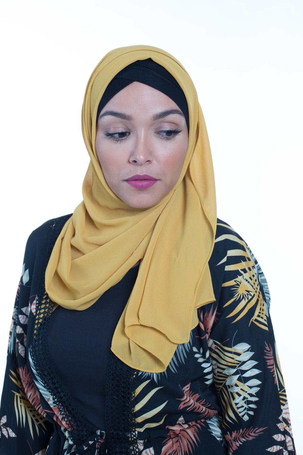 Hijab Mousseline moutarde