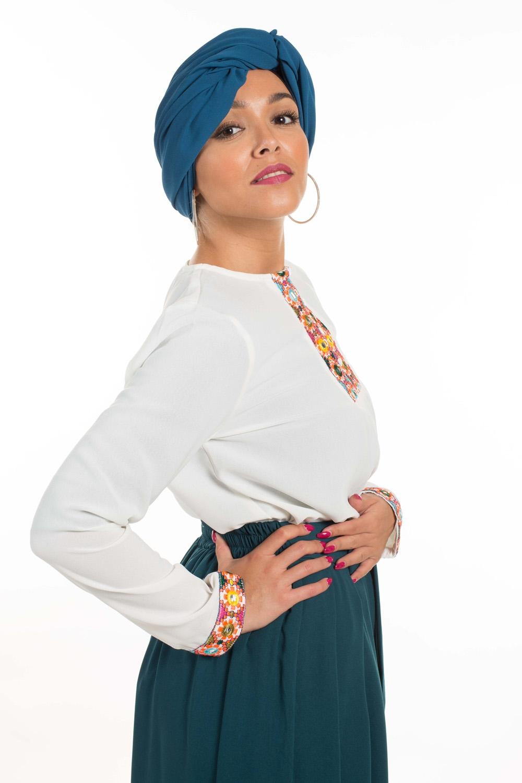 Hijab Mousseline canard