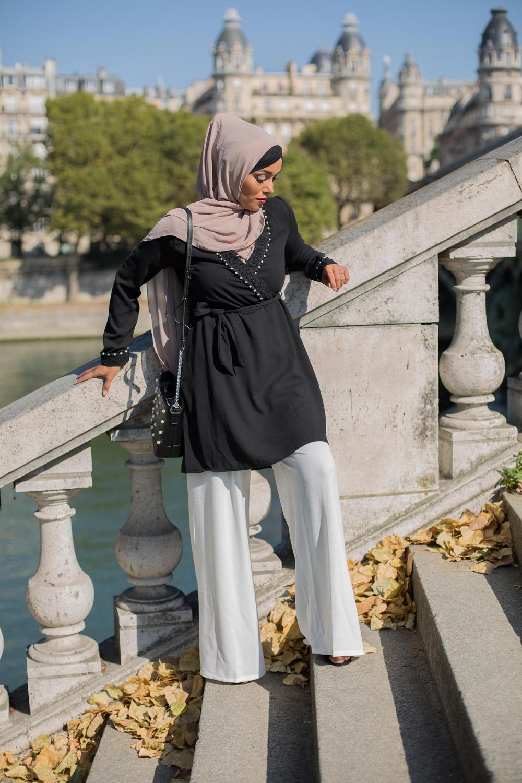 Tunique cache coeur noir