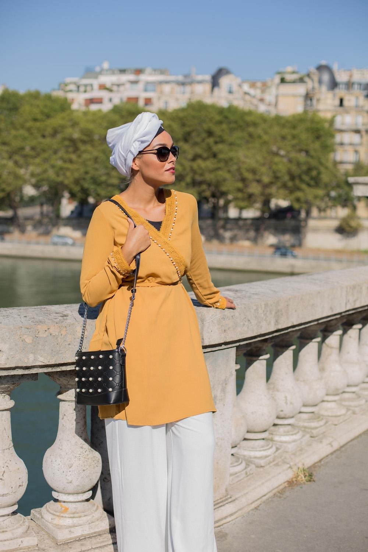 Tunique cache coeur moutarde