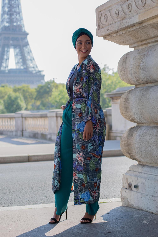 Kimono été vert