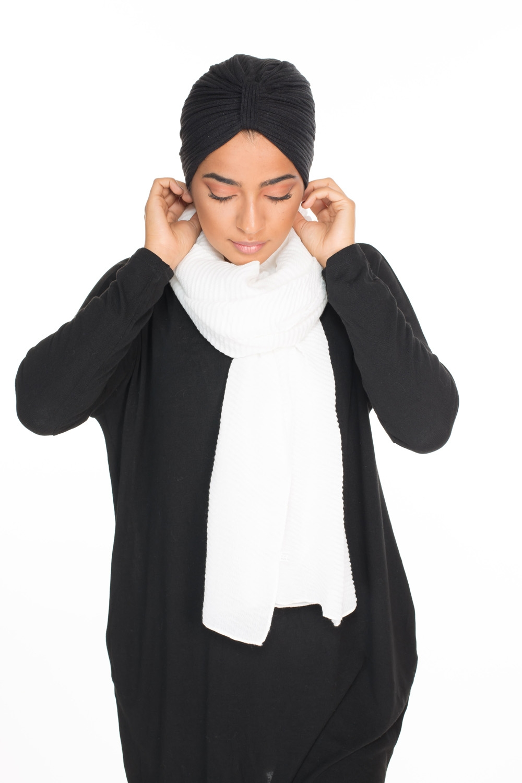 Turban coton noir