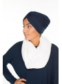 Turban coton bleu boutique hijab