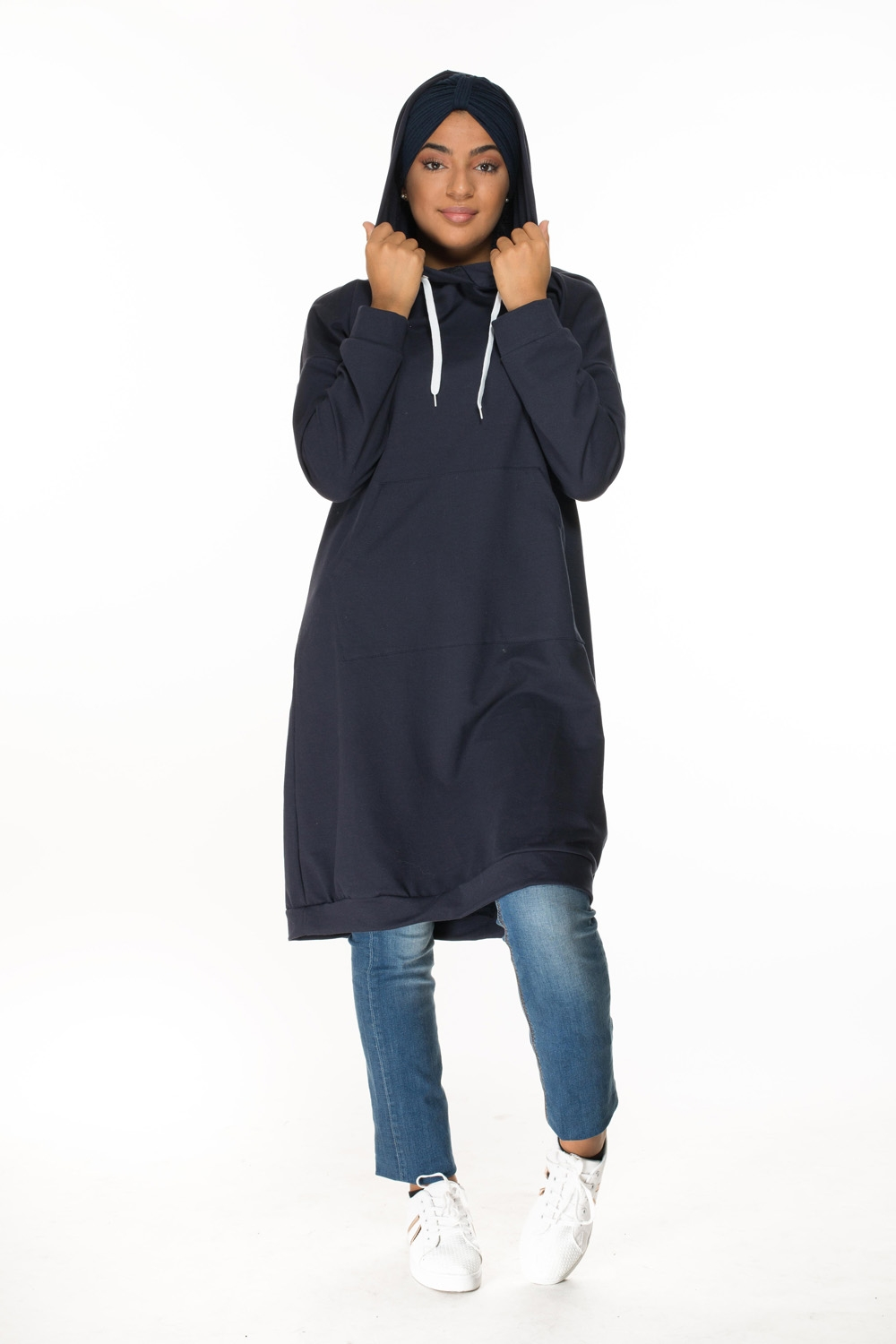 Sweat oversize bleu