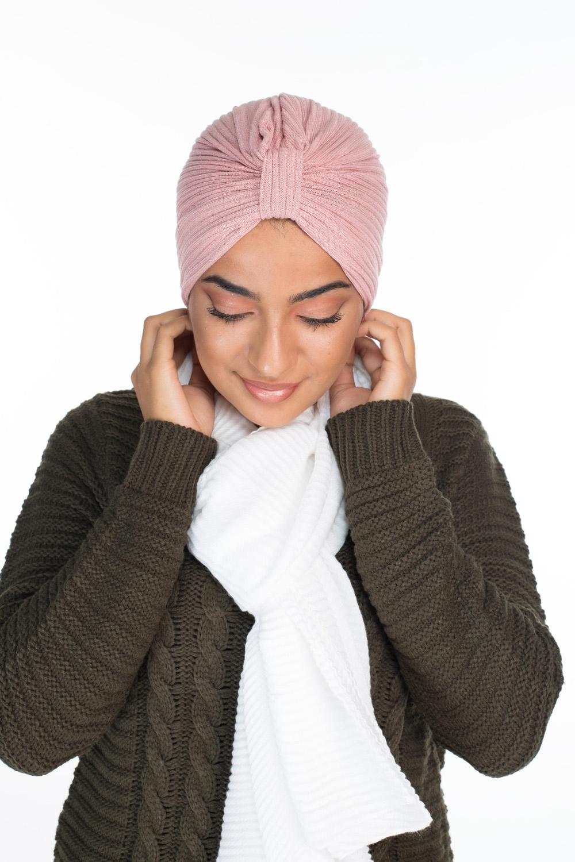 Turban coton pink
