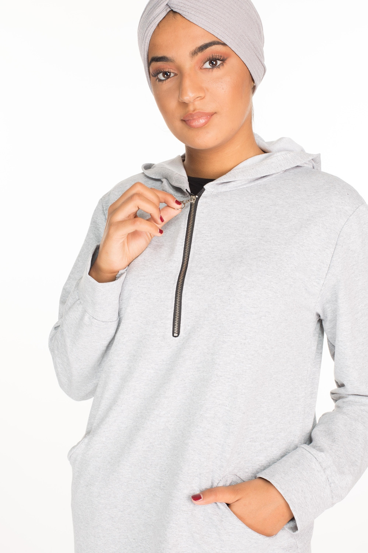 Turban coton gris clair