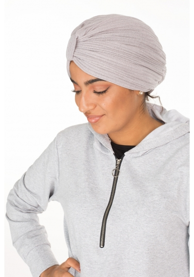 Turban coton gris clair boutique hijab mode