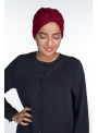 Turban coton bordeau boutique hijab