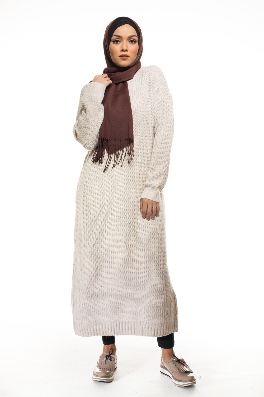 Tricot long beige