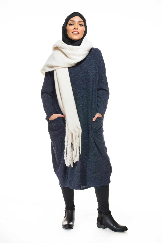 Tunique pull winter bleu