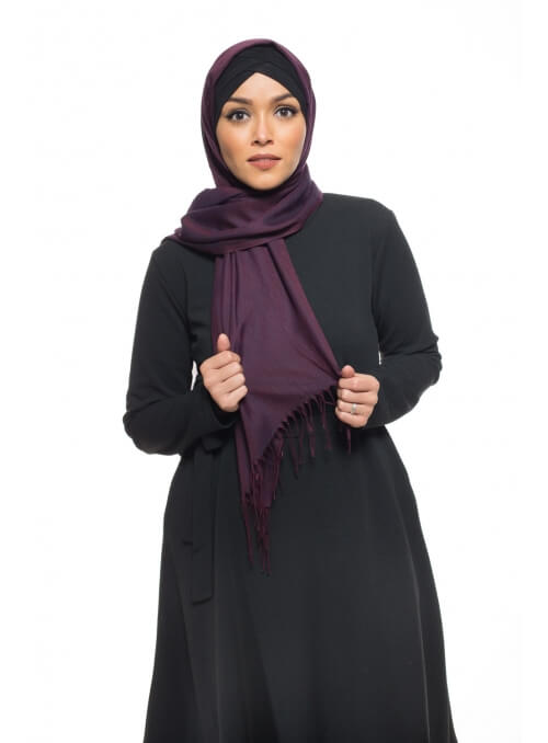 Pashmina Turkey aubergine boutique hijab