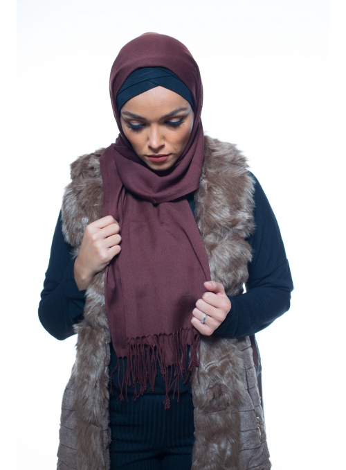 Pashmina Turkey chocolat boutique hijab