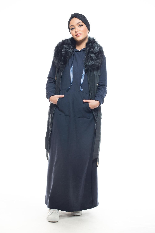 Robe sweat bleu