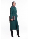 Robe chemise longue wrap verte mode modest fashion femme musulmane boutique hijab france