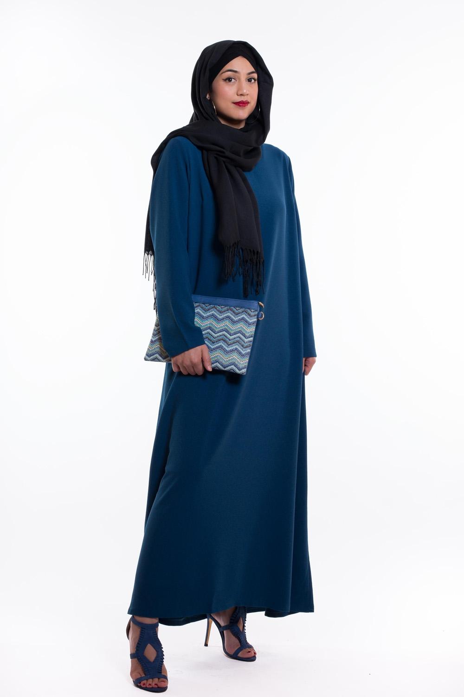 Robe évasée bleu