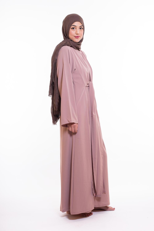 Abaya wrap vieux rose