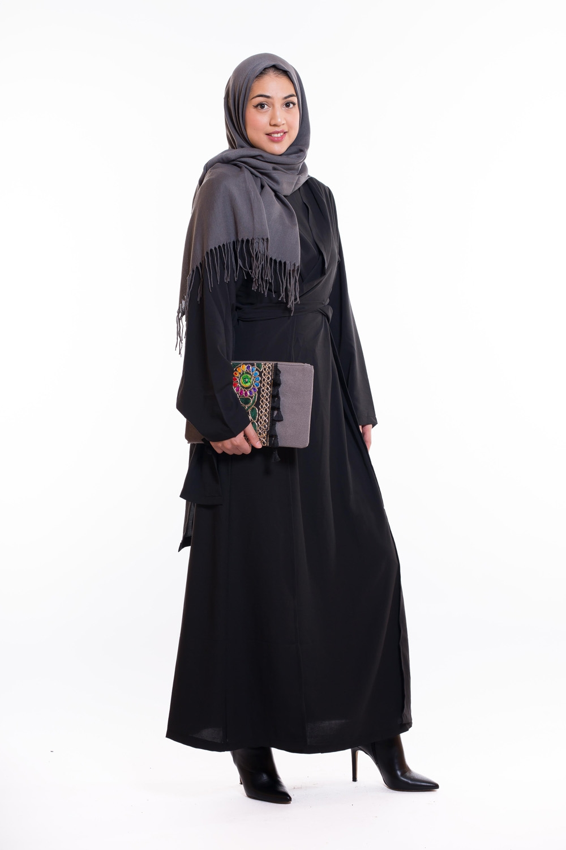 Abaya wrap noir