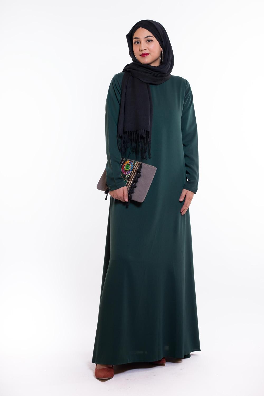 Robe Eva vert bouteille