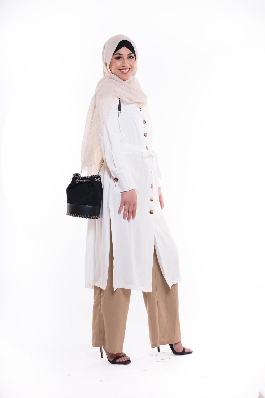 Chemise veste coton blanche