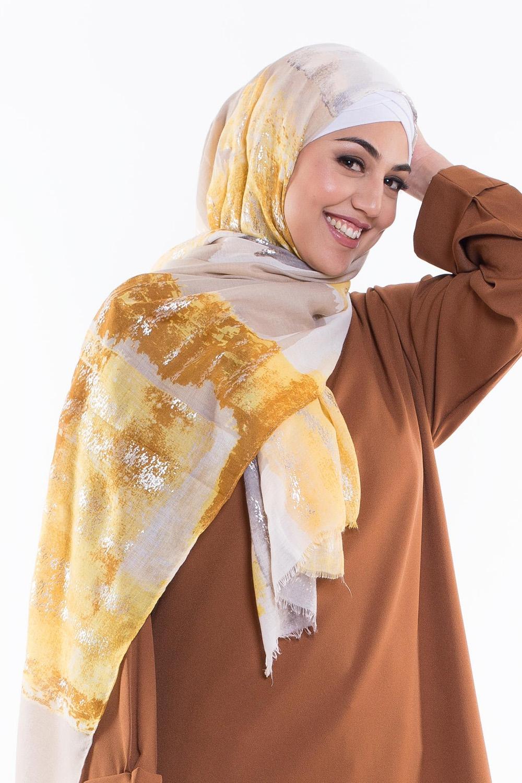 Hijab coton motif été