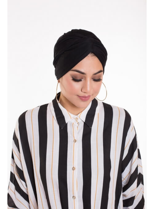 Turban snood noir