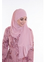 Hijab enfilable mousseline rose clair