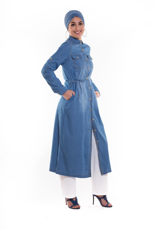 Robe chemise denim
