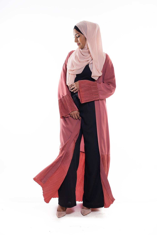 Kimono plissé terre cuite