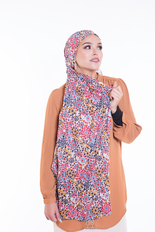 Hijab 100% coton mosaika