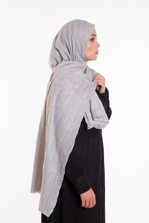 Hijab 100% coton noir