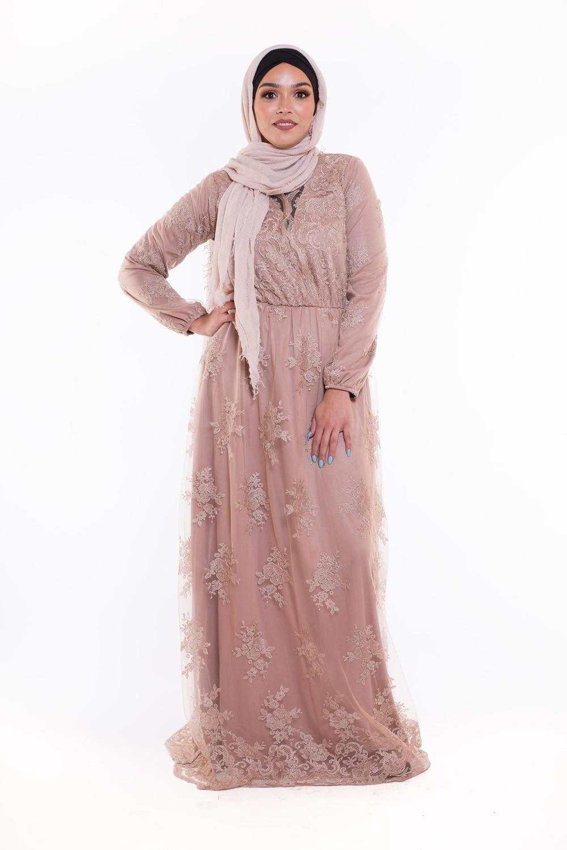 Robe longue noir sequin de fete femme musulmane