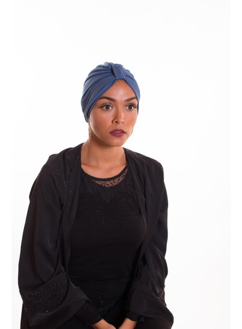 Turban summer bleu azur boutique hijab