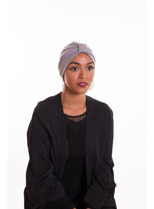 Turban summer gris clair