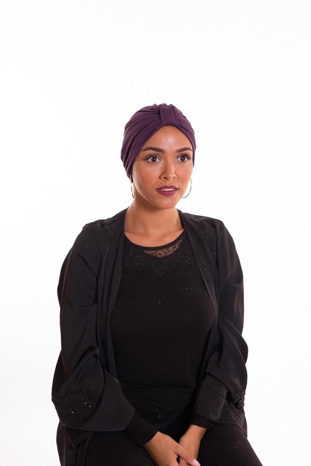 Turban summer violet