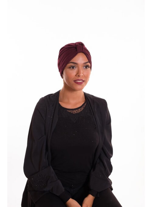 Turban summer bordeau boutique hijab