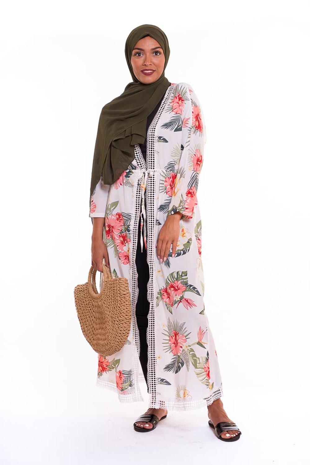 Kimono summer blanc