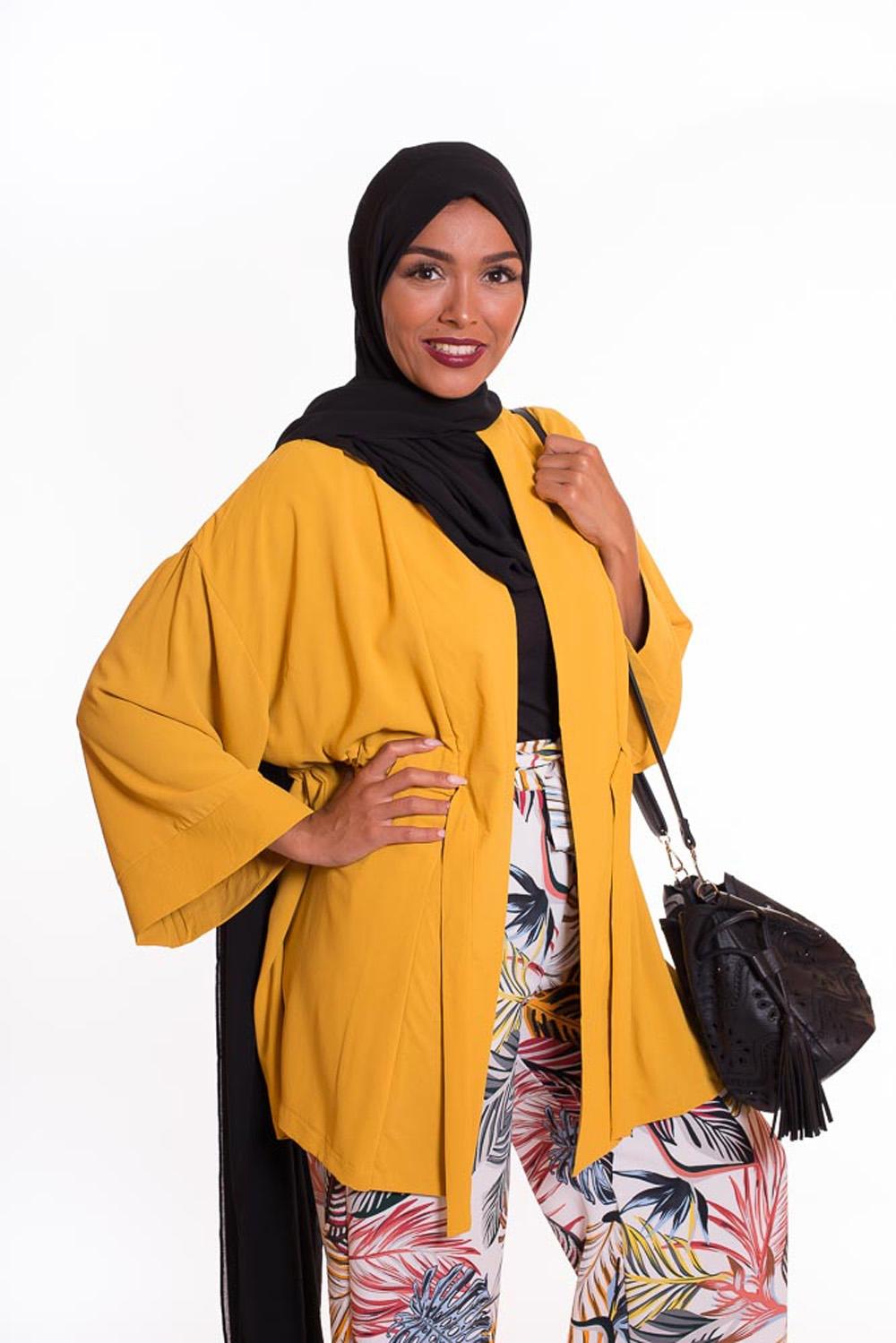 hijab xxl mousseline noir