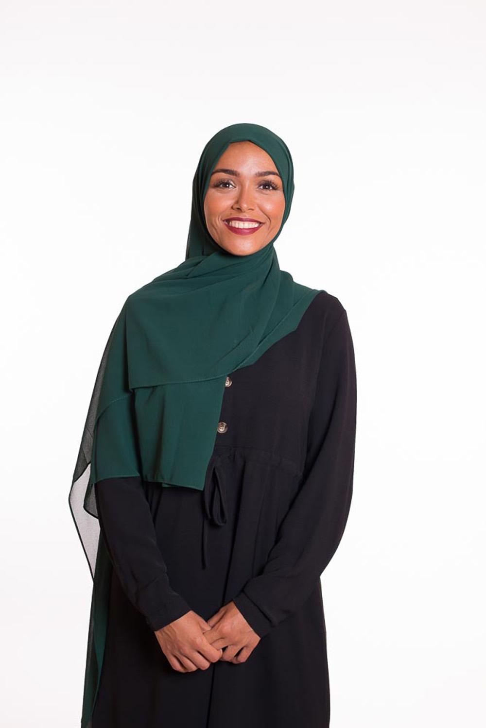 hijab xxl mousseline vert