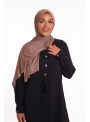 Hijab pure and cool taupe foncé